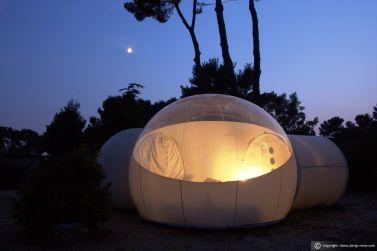 Dormir en una Burbuja