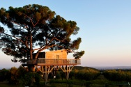 Italie. Lazio. Piantata house. The Black cabin